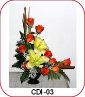 karangan bunga bentuk L