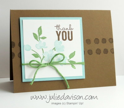 Stampin' Up! Painted Petals Card + Stamp-A-Ma-Jig VIDEO tutorial #occasions #stampinup www.juliedavison.com