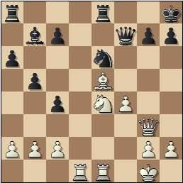 Partida de ajedrez Kurajica vs. Tukmakov en 1965, posición después de 24...Rh8?