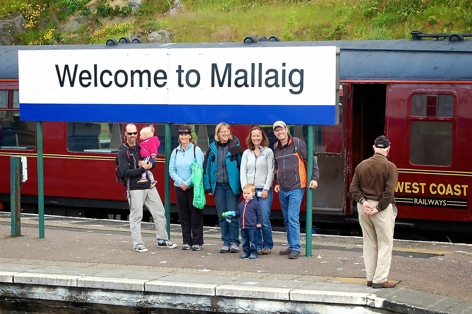 Jacobite Steam Train at the station in Mallaig