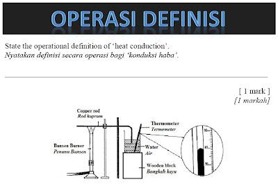 Teknik menjawab soalan sains pmr kertas 2 definisi operasi