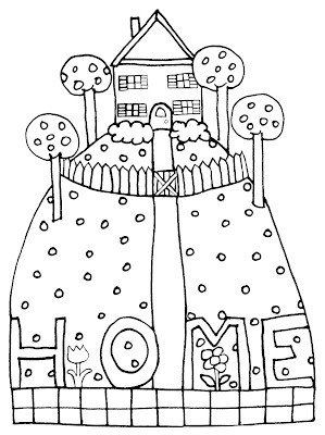 Home on The Hill Free Crudoodle Digital Stamp by Tori Beveridge