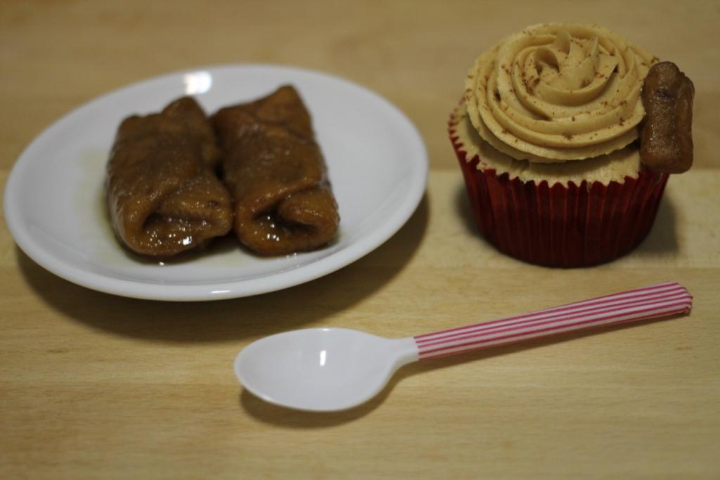 Pestiños y cupcakes de dulce de leche y pestiños