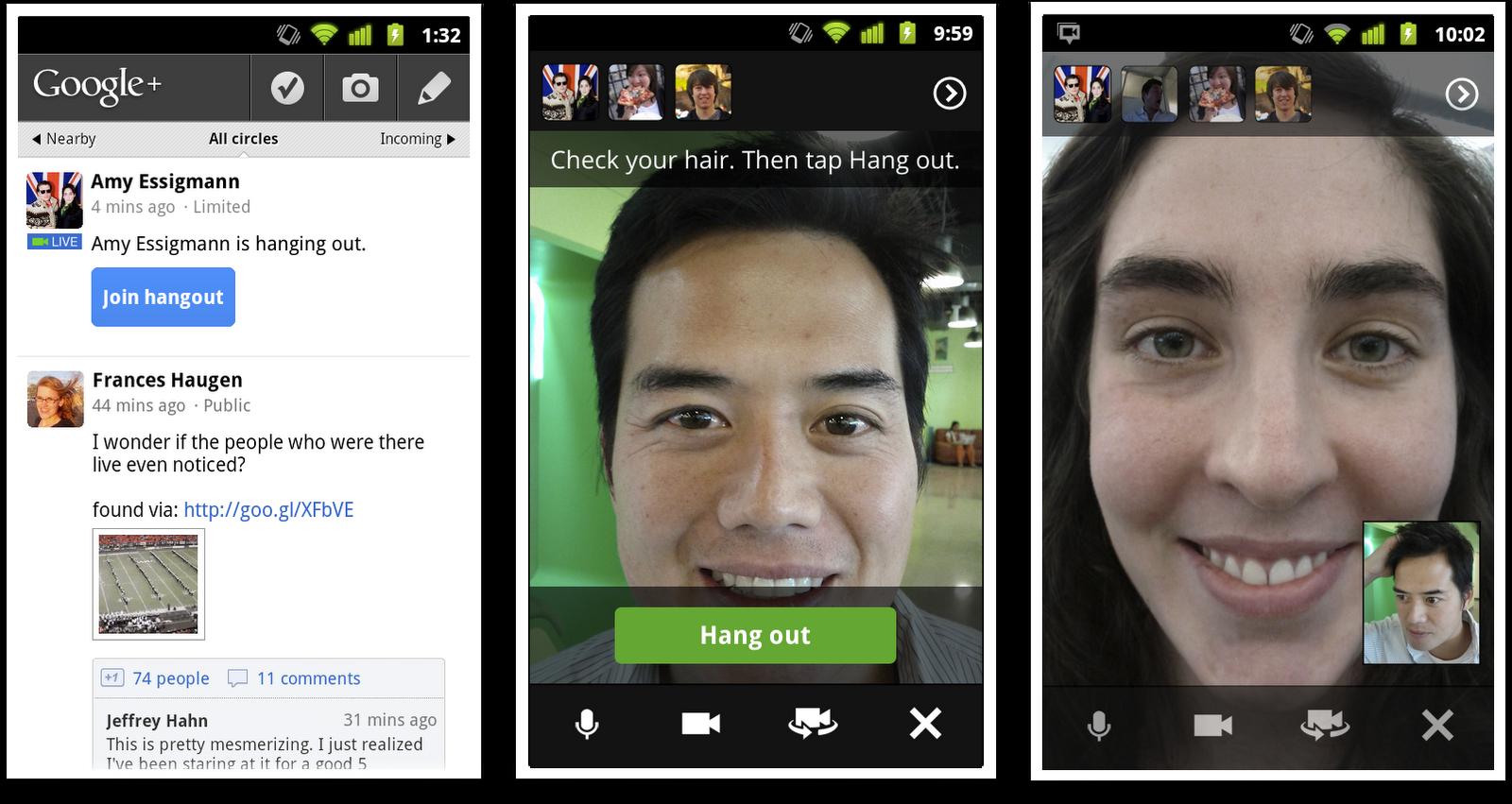 hangoutsonyourphone2 Google Opens Signups On Google+