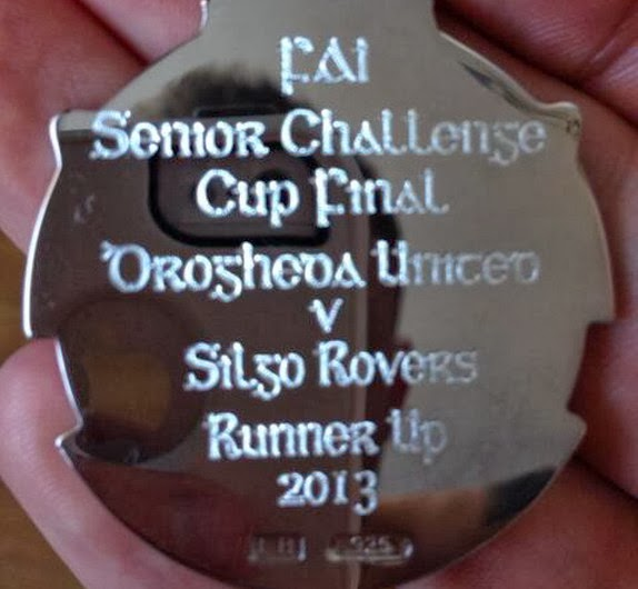 The engravers spelled Sligo Rovers' name wrong on the FAI Cup medals