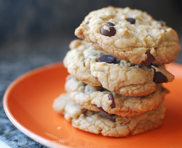 Baked by Jen: Thick and Chewy Chocolate Chip Cookies