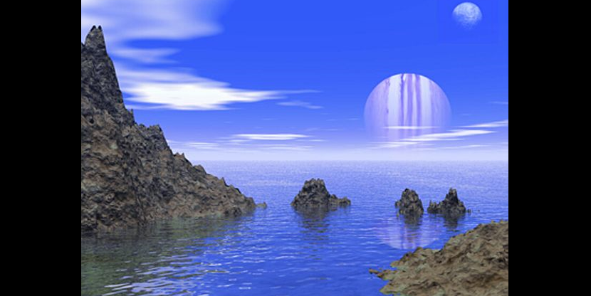 Artist's rendering of an ocean on an exoplanet. Credit: J. Whatmough