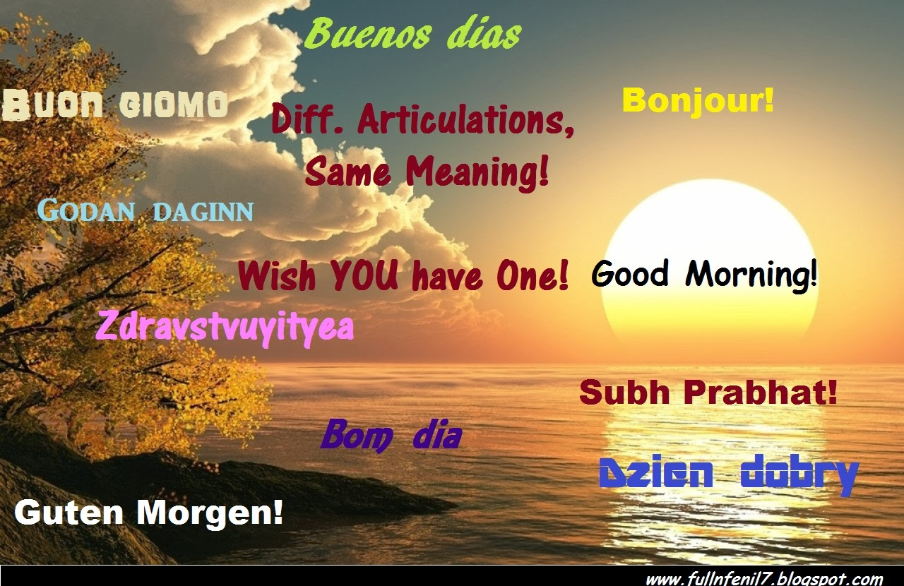 Good Morning In Many Languages :