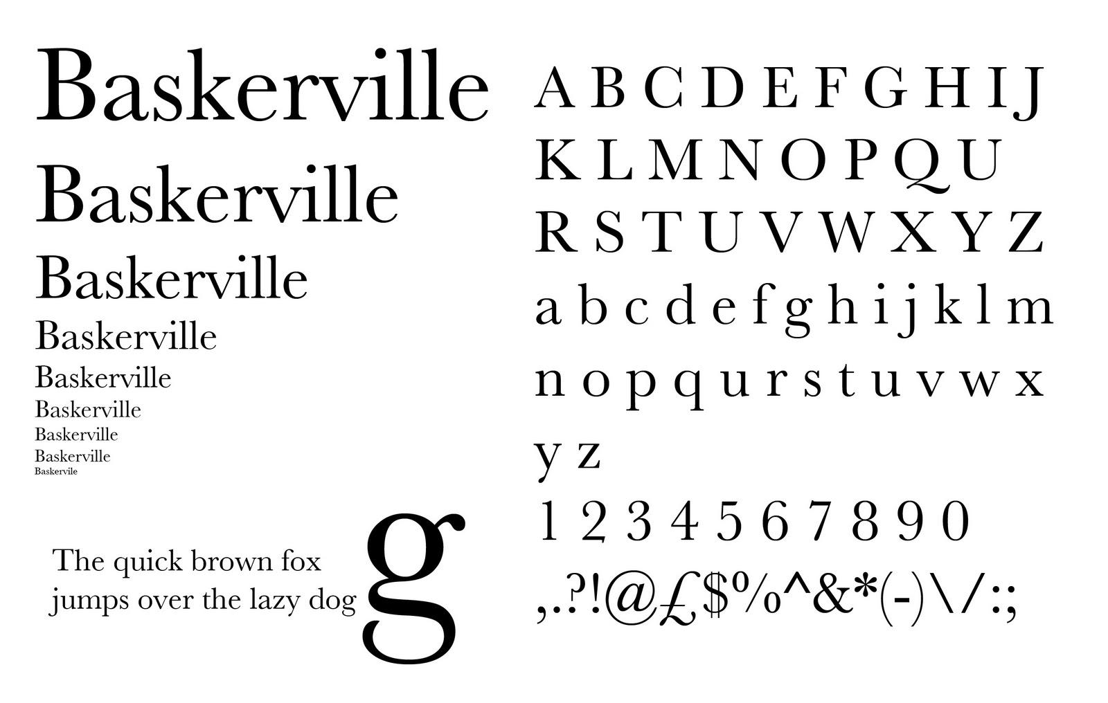 Advanced typography publication design sr1 baskerville Baskerville