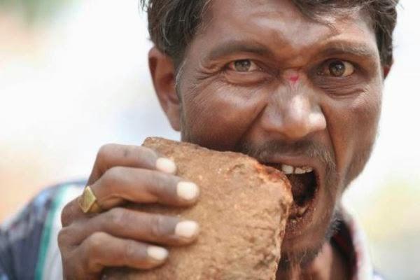 Fenomena Aneh, Pria India Kecanduan Makan Bata
