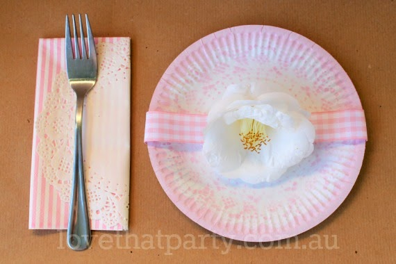 DIY Pretty Pink Lace Print Paper Plates: Girl's Party Ideas @ Love That Party www.lovethatparty.com.au