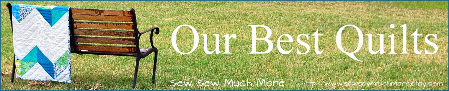 Shop Sew Sew Much More for handcrafted quilts and camera strap covers