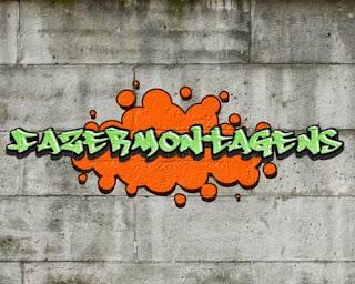 Escreva seu nome em forma de grafite