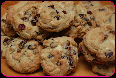 Epicurious White Chocolate Cranberry Macadamia Nut Cookies