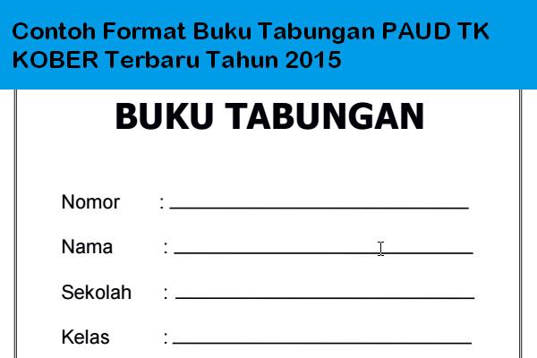 Download Contoh Format Buku Tabungan Paud Tk Kober Terbaru