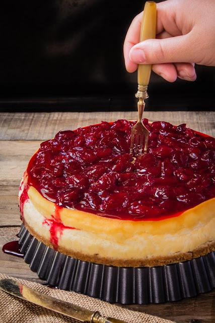tarta-queso-compota-cerezas