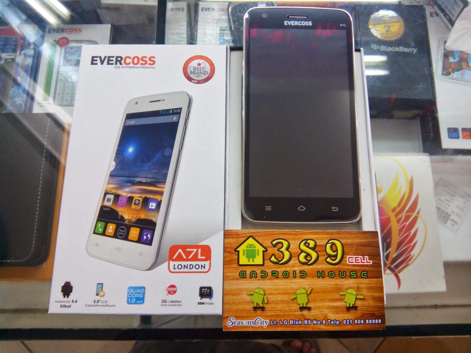 Evercoss A7L, Spesifikasi HP Prosesor Quad Core Harga Murah 800 Ribu