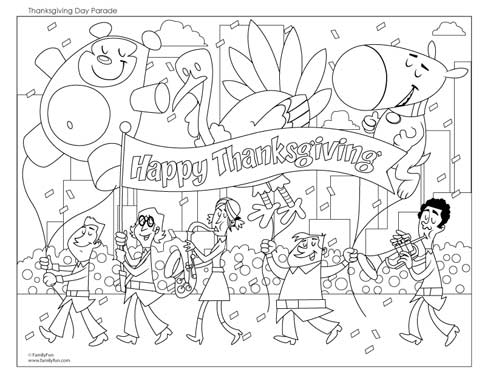 free thanksgiving coloring pages - Free Thanksgiving Coloring Pages