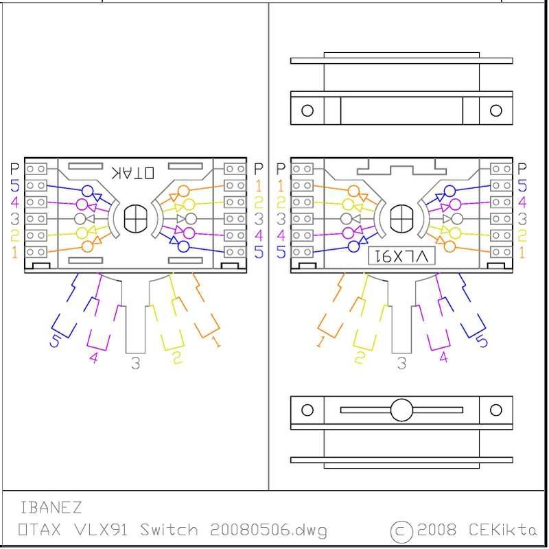 LF Schematic: HB + HB + Vol + Dimarzio 5-way