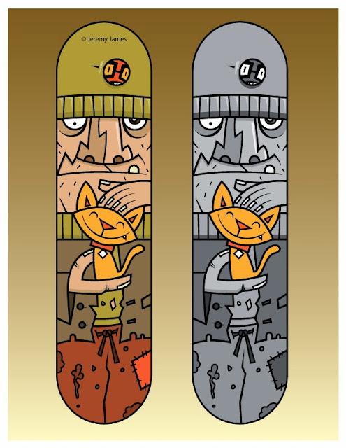 Prancha de Skate - gatinho