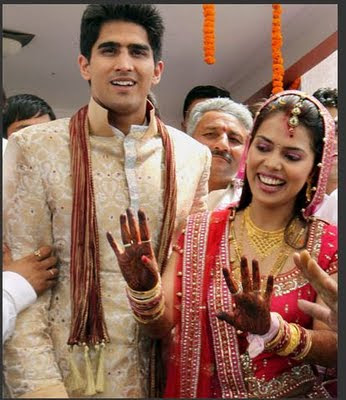 Vijender Singh and his wife