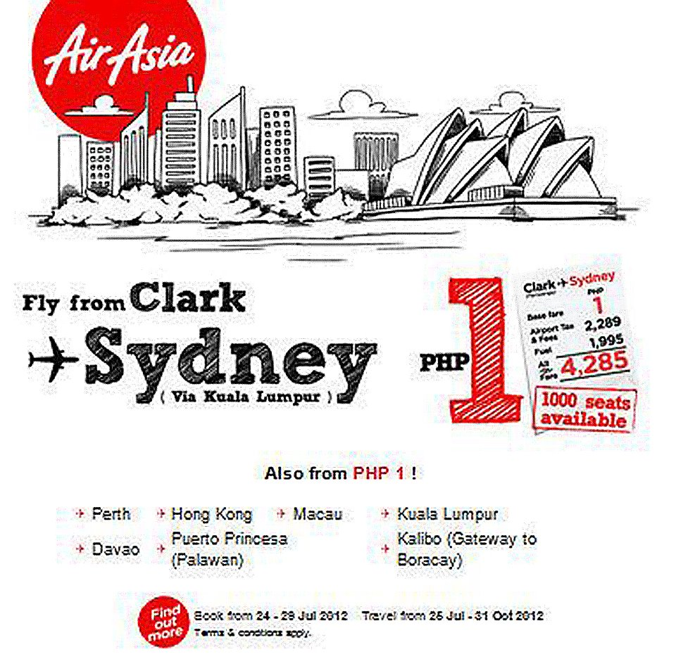 Air Asia Piso Fare Promo