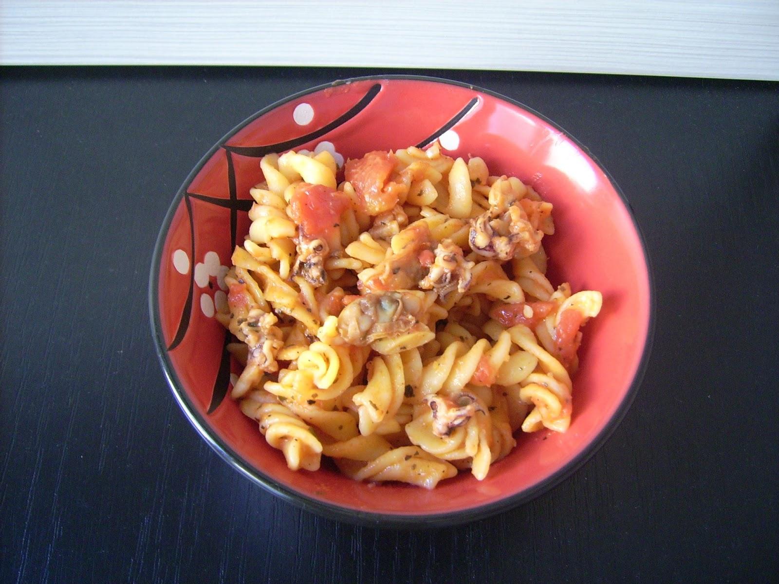 Spicy Seafood Fusilli