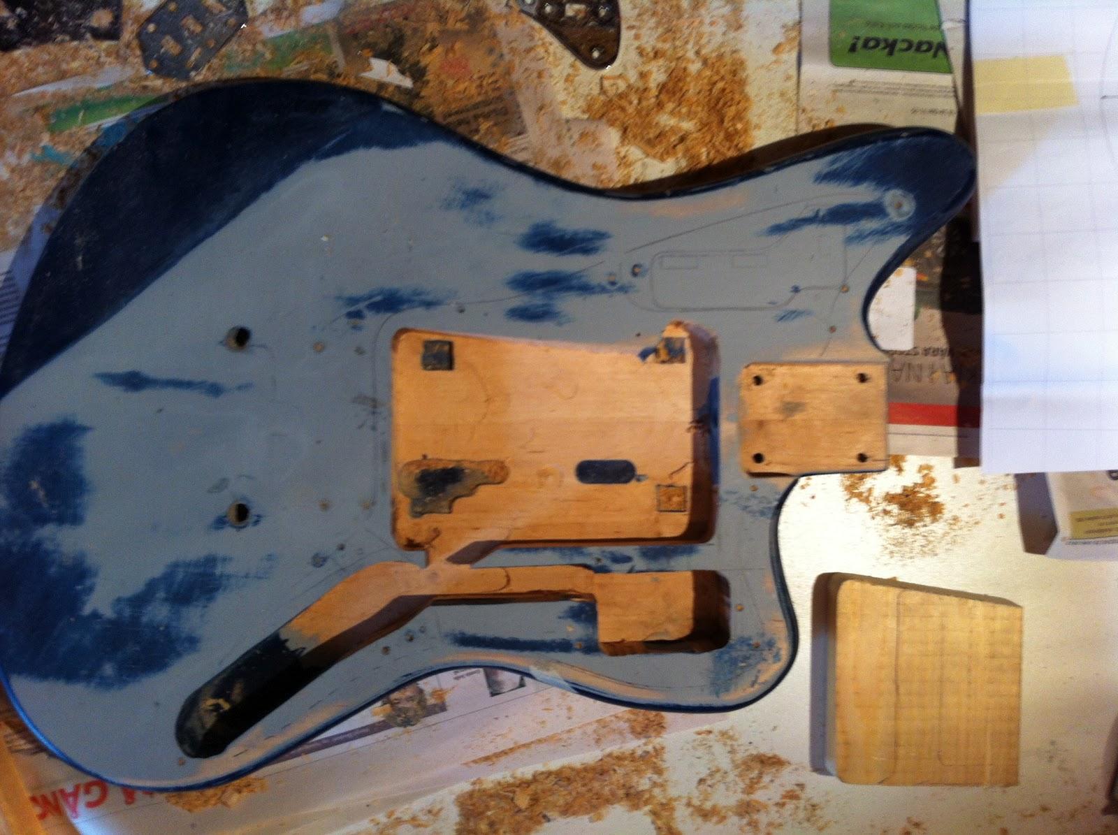 Guitar repair sthlm fender jaguar duo sonic neck and custom body paint strip sciox Images