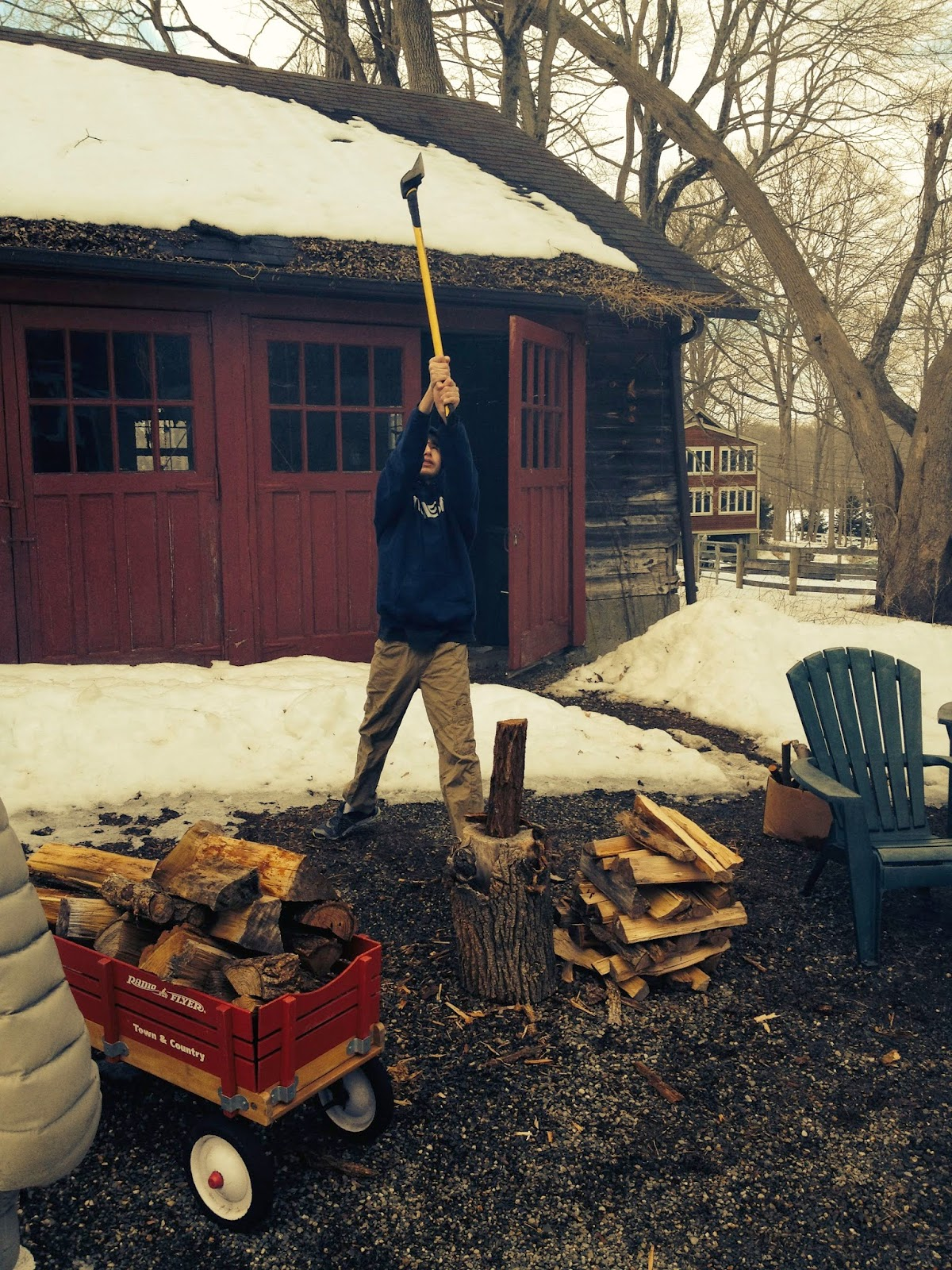 boy chopping wood: simplelivingeating.com