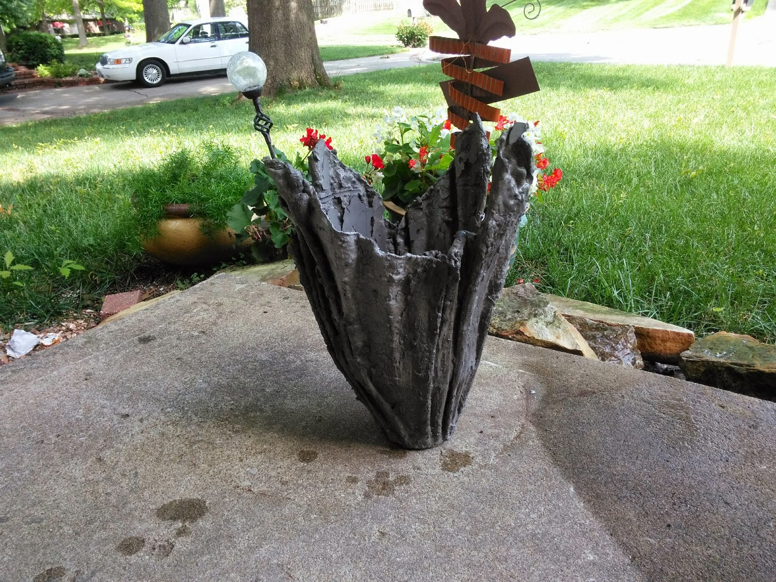 geometric pinterest planter blog diy pots pin cement ginger snaps