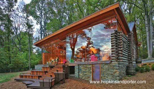 Cabaña de troncos americana centenaria remodelada