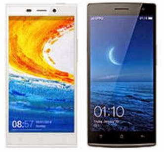 Gionee Elife E7 Versus OPPO Find 7a