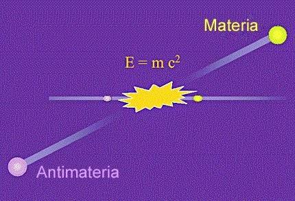 Se observa como se destruyen materia y antimateria liberando fotones