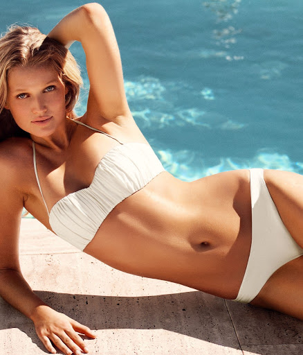 Toni Garrn sexy H&M bikini model photo shoot