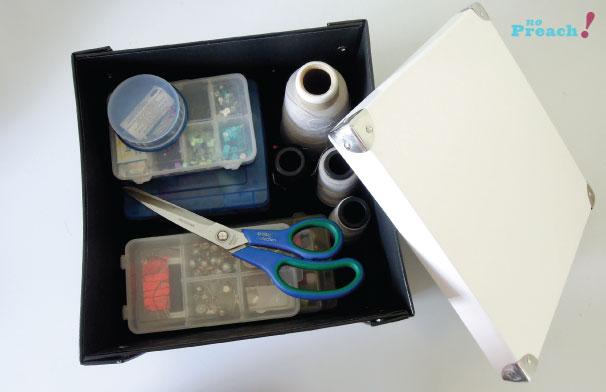 caixa organizadora para materiais de costura