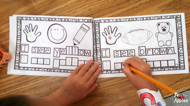 Using emergent readers to practice reading and writing color words