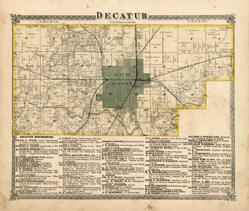 Decatur Illinois Map.Picture Decatur Decatur Il Old Maps