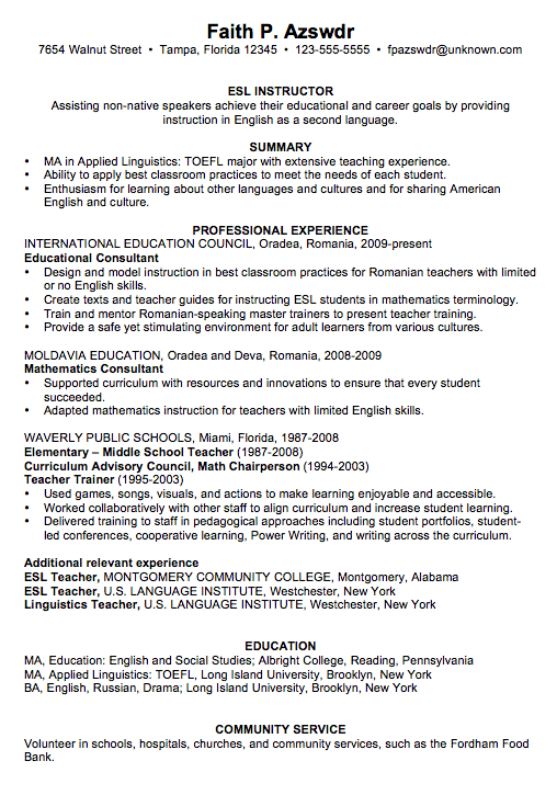 Picture Of Template Art Teacher Resume Examples Large size