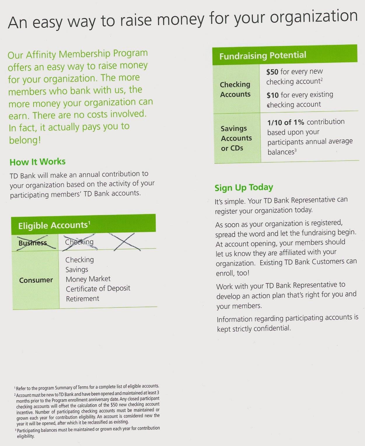 Ps 130m Parents Association Td Bank Fundraising