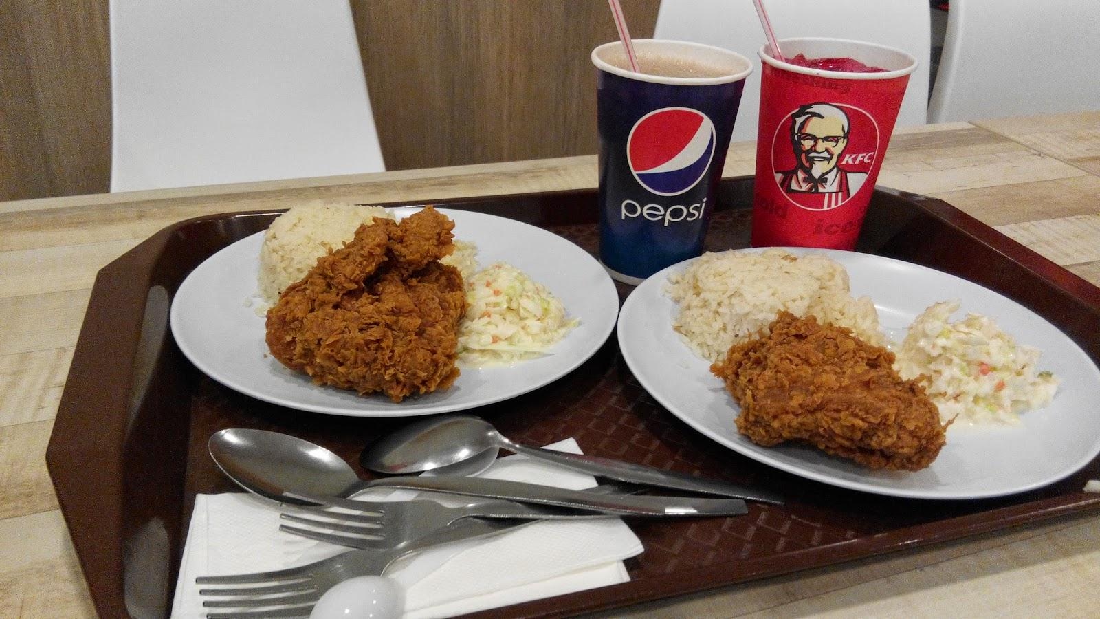 Lama dah tak makan ayam KFC