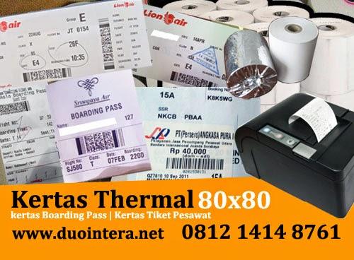 Kertas Thermal surabaya, Kertas Boarding Pass, Kertas Thermal 80x80, Kertas Tiket Thermal, Kertas Tiket Pesawat