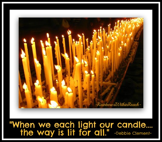 photo of: Milan Cathedral RainbowsWIthinReach: When we each light our candle.... the way is lit.
