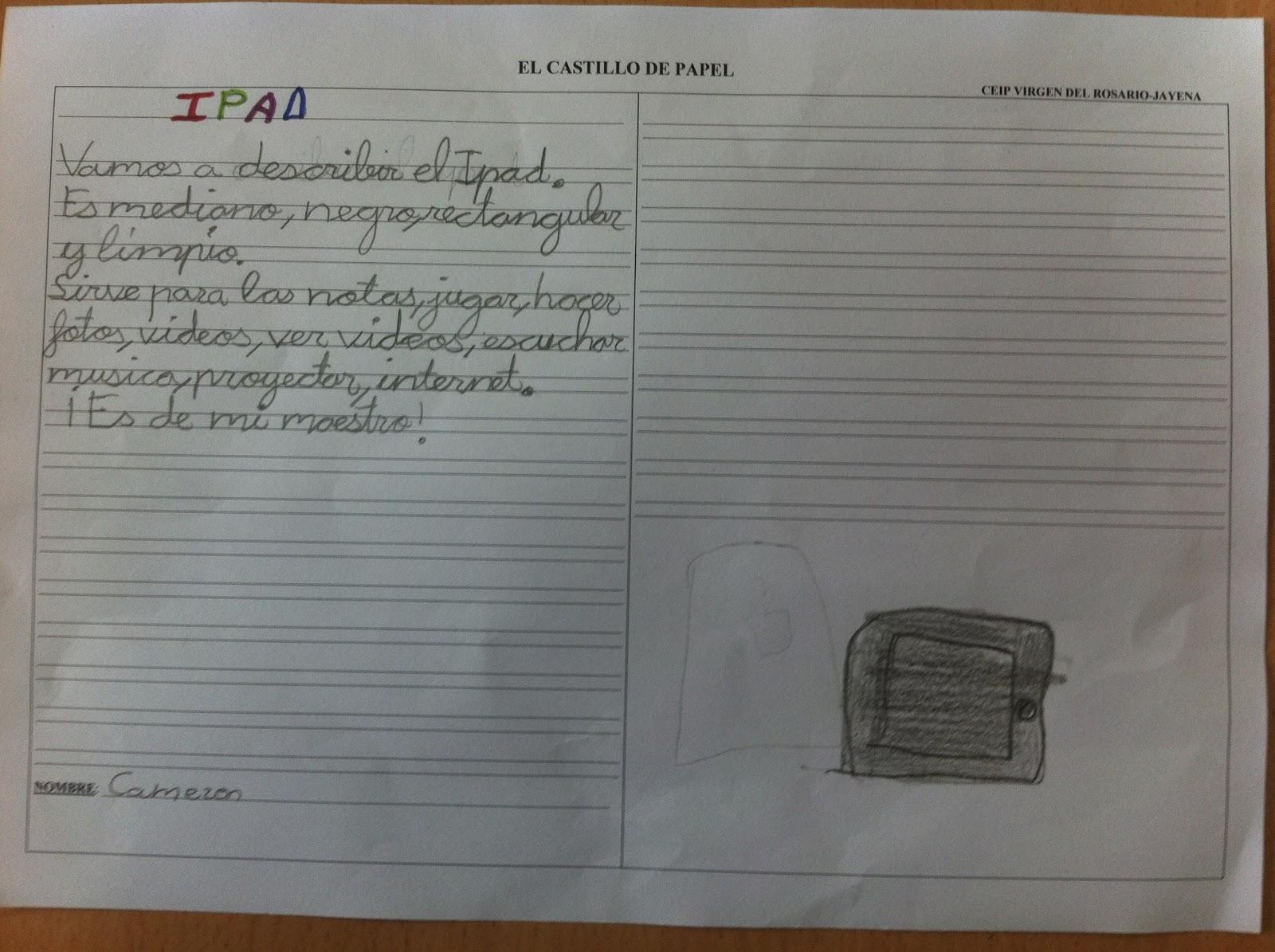ABRIMOS NUESTRA VENTANA EDUCATIVA: CASTILLO DE PAPEL