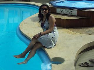 indian girl at swimming pool