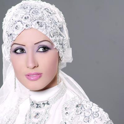 maquillage mariage femme voilee
