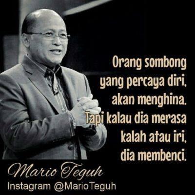 Mario Teguh : Orang Sombong yang Percaya Diri akan Menghina, Tapi..