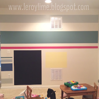 Playroom Makeover with Leftover Paint