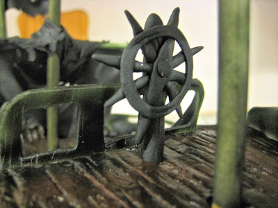 Pirate Ship Cake of The Black Pearl from Pirates of the Caribbean - Close-Up of Fondant Ship's Wheel