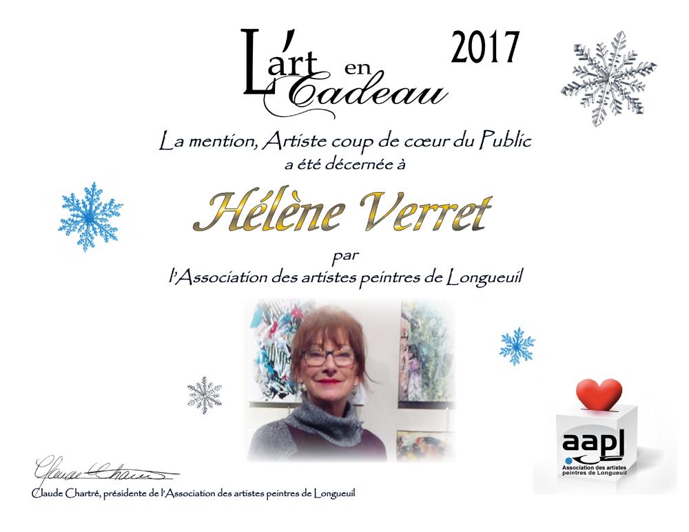 ART EN CADEAU: COUP DE COEUR DU PUBLIC