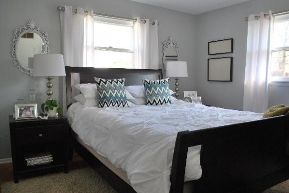 Light Gray Walls Bedroom 580 x 388